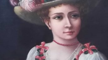 Quadro antico vendita; ovale su tela fine '700