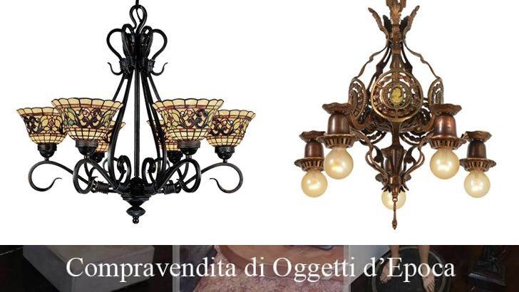 Cerco e compro lampadari antichi
